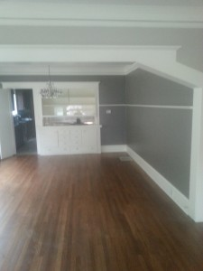 Professionally paint makes all the difference for the walls and trim of this Portland, Oregon home