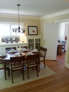 Newly painted walls, ceiling, trim, cabinets in Dining Area N.E. Portland