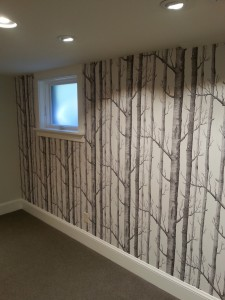 Gorgeous tree pattern wallpaper hanging in Portland, Oregon