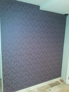 Quality wallpaper hanging of traditional print by Portland's Blue Sky PDX