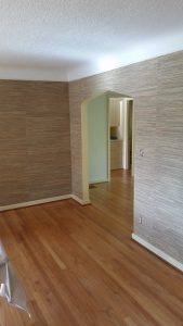 The results of hanging grass cloth wallpaper